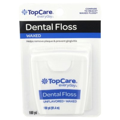 TopCare Dental Floss, Unflavored Waxed