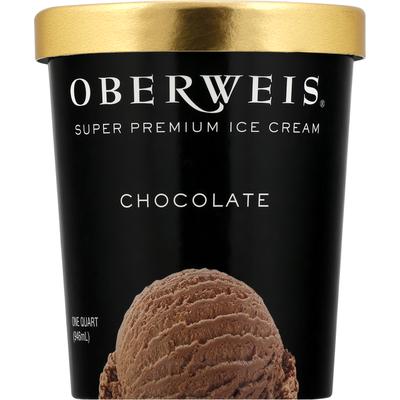 Oberweis Dairy Ice Cream, Super Premium, Chocolate