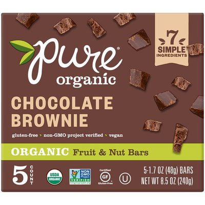 Organic & Pure Pure Fruit & Nut Bar Chocolate Brownie 8.5oz