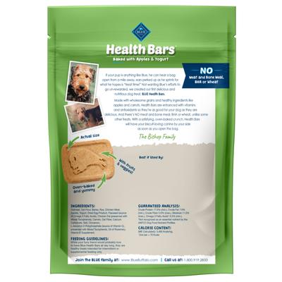 Blue Buffalo Health Bars Natural Crunchy Dog Treats Biscuits, Apple & Yogurt