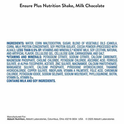 Ensure Plus Nutrition Shake Milk Chocolate Ready-to-Drink Bottles