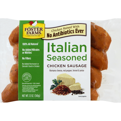 Foster Farms Chicken Sausage, Italian Seasoned