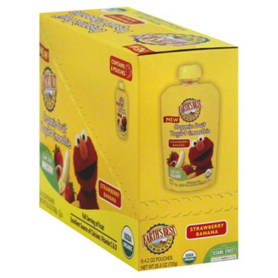 Earth's Best Sesame Street Strawberry Banana Organic Fruit Yogurt Smoothie