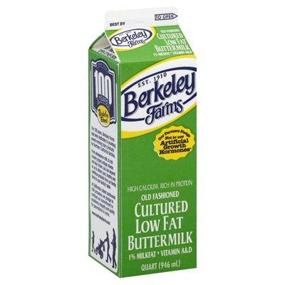 Berkeley Farms Buttermilk, Low Fat, Cultured, 1% Milkfat