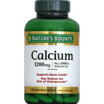 Nature's Bounty Calcium Rapid Release Softgels