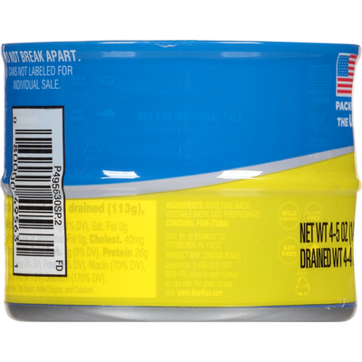 StarKist Tuna in Water, Albacore, Solid White, 4 Pack