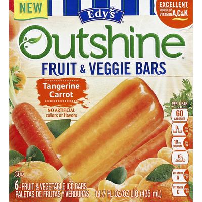 Outshine Fruit & Veggie Bars, Tangerine Carrot