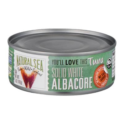 NATURAL SEA Wild Albacore Tuna, Unsalted, Solid White