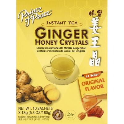 Prince of Peace Instant Tea, Ginger Honey Crystals, Original Flavor, Sachets