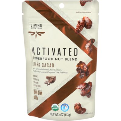 Living Intentions Superfood Nut Blend, Activated, Dark Cacao