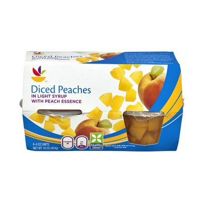 SB Diced Peaches in Light Syrup - 4 CT