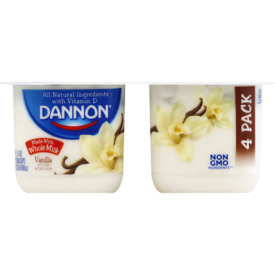 Dannon Whole Milk Vanilla Yogurt