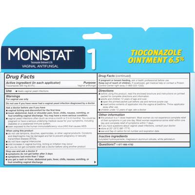 MONISTAT 1 Vaginal Antifungal Ointment