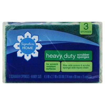 Signature Home Sponges, Scrubber, Heavy Duty