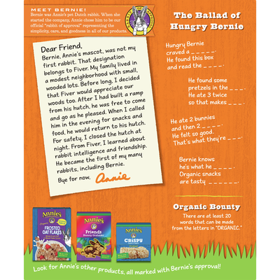 Annie's Organic Assorted Crackers and Pretzels Cheddar Snack Mix