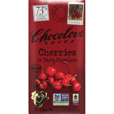 Chocolove Dark Chocolate, Cherries, 73% Cocoa Content