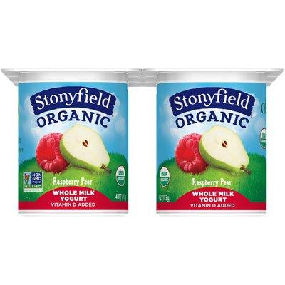 Stonyfield Organic Kids Raspberry Pear Whole Milk Yogurt