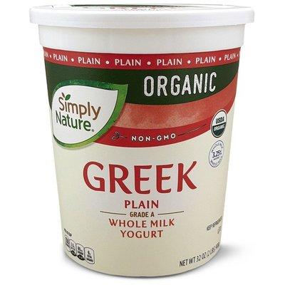 Simply Nature Organic Whole Milk Plain Greek Yogurt