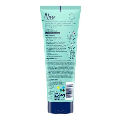Nair Leg Mask Exfoliate & Smooth 3-in-1 Hair Remover + Beauty Treatment