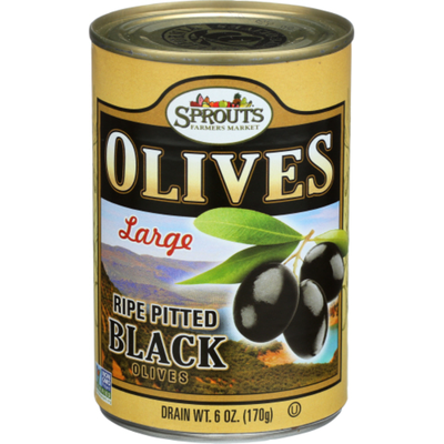 Sprouts Large Ripe Black Olives