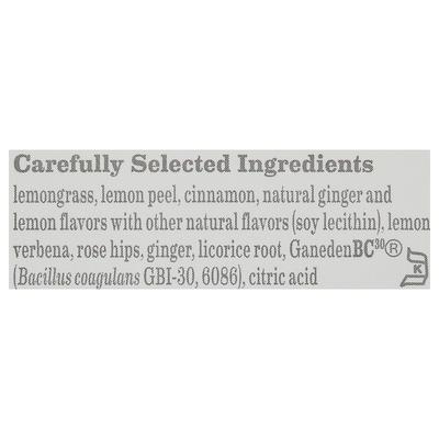 Bigelow Lemon Ginger Plus Probiotics Herbal Tea Bags