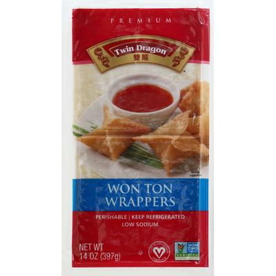 Twin Dragon Won Ton Wrappers, Premium