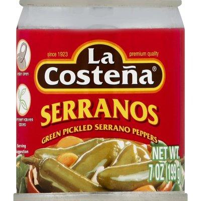 La Costeña Serrano Peppers, Green Pickled