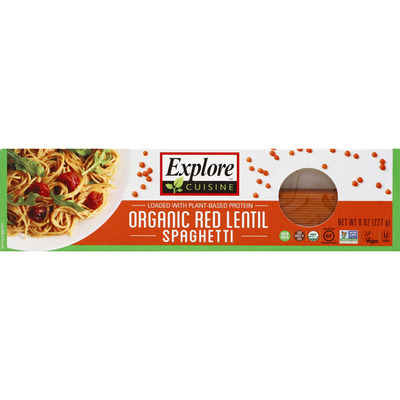 Explore Cuisine Spaghetti, Organic, Red Lentil