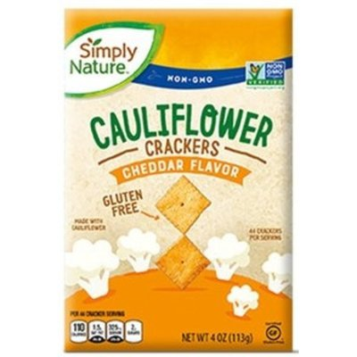 Simply Nature Cheddar Flavor Cauliflower Crackers