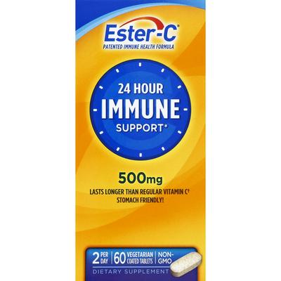 Ester-C Immune Support, 24 Hour, 500 mg, Vegetarian Coated Tablets