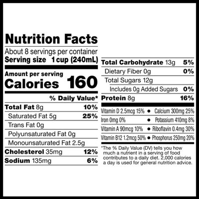 Horizon Organic Lactose-Free Vitamin D Organic Whole Milk