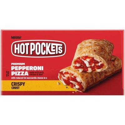 Hot Pockets Pepperoni Pizza Crispy Crust Frozen Sandwiches