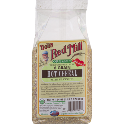 Bob's Red Mill Organic 6 Grain Hot Cereal With Flaxseed