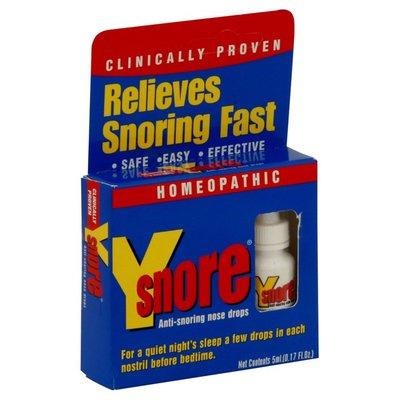 Y Snore Anti-Snoring Nose Drops