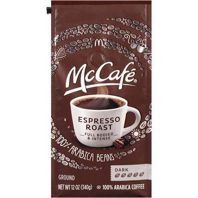 McCafe Espresso Roast Dark Ground Coffee, Caffeinated