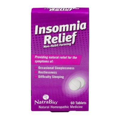 NatraBio Non-Habit Forming Insomnia Relief Homeopathic Medicine Tablets - 60 CT
