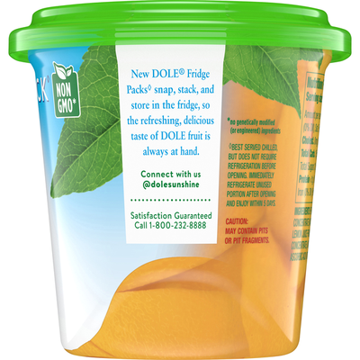 Dole Peach Slices in 100% Fruit Juice, Yellow Cling, Fridge Pack