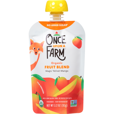 Once Upon a Farm Fruit Blend, Organic, Magic Velvet Mango