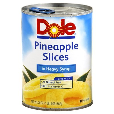 Dole Pineapple, Slices, in Heavy Syrup