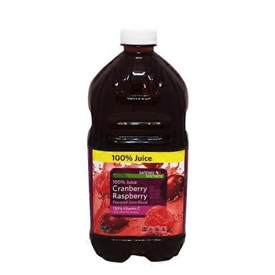 Signature Kitchens Cranberry Raspberry Flavored 100% Juice Blend Of Apple, Grape, Cranberry, And Red Raspberry Juices From Concentrate