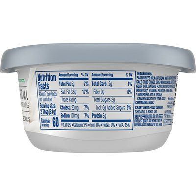 Philadelphia Chive & Onion Reduced Fat Cream Cheese Spread with a Third Less Fat