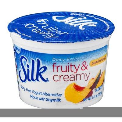 Silk Fruity & Creamy Dairy-Free Yogurt Alternative Peach Mango