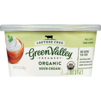 Green Valley Creamery Sour Cream, Lactose Free, Organic