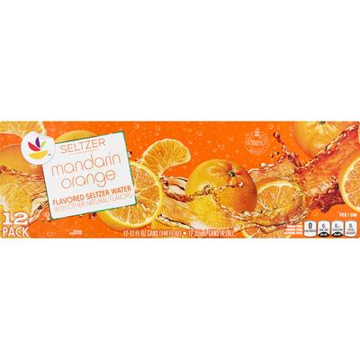 SB Seltzer Water, Mandarin Orange, 12 Pack