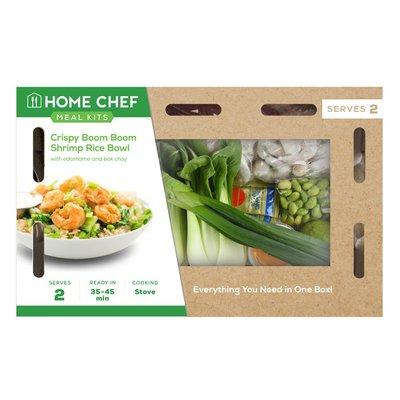 Home Chef Crispy Boom Boom Shrimp Rice Bowl With Edamame And Bok Choy