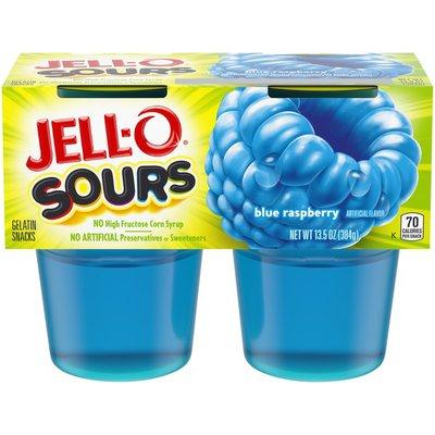 Jell-O Blue Raspberry Ready-to-Eat Jello Cups Gelatin Snack