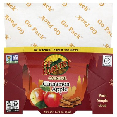 Gf Harvest Oatmeal, Cinnamon Apple