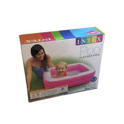 "Intex Recreation 33.5"" x 33.5"" x 9""  Ages 1-3 Pink Play Box Pool"