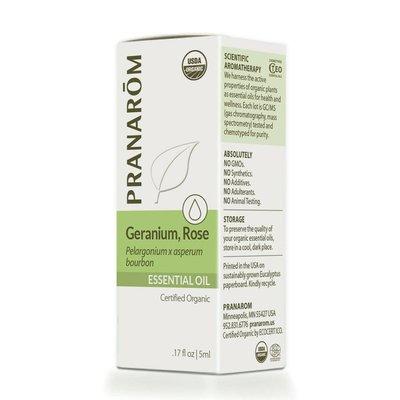 Pranarom Certified Organic Rose Geranium Essential Oil