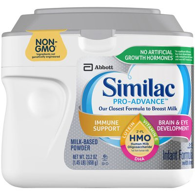 Similac Pro-Advance Non-GMO HMO Infant Formula with Iron Powder Tub